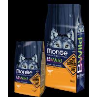 Monge, BWild, корм д/собак всех пород (страус)