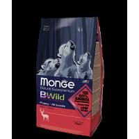 Monge, BWild, корм д/щенков всех пород (оленина)