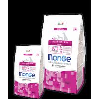 Monge, DL, Extra Small, корм д/собак мелких пород (курица)