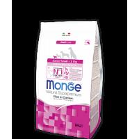 Monge, DL, Extra Small, корм д/щенков мелких пород (курица)