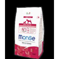 Monge, DL, Mini Starter, корм д/щенков мини пород (курица)