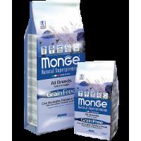 Monge, Grain Free, корм д/собак всех пород, беззерновой (анчоусы)