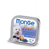 Monge, Fruit, влажный корм д/собак (индейка/черника)