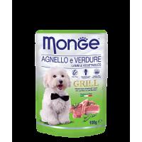 Monge, Grill, влажный корм д/собак (ягненок/овощи)