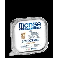 Monge, Monoproteico, влажный корм д/собак (оленина)