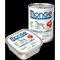 Monge, Monoproteico, влажный корм д/собак (кролик/рис/яблоко)