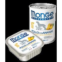 Monge, Monoproteico, влажный корм д/собак (курица/рис/ананас)