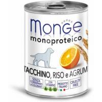 Monge, Monoproteico, влажный корм д/собак (индейка/рис/цитрус)