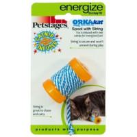 Petstages, Energize ОРКА катушка с веревочкой, игрушка для кошки 6 см