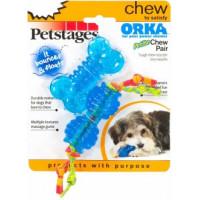 Petstages, ОРКА косточка+гантеля, набор из двух игрушек для собак, ультра-мини 7 см