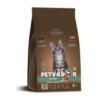Petvador, Kitten, корм д/котят, берем. и кормящих кошек (утка/рис)