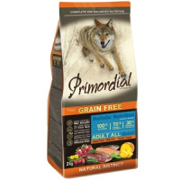 Primordial, GF, Adult, корм д/собак всех пород (утка/форель)