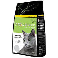 ProBalance, Adult Sensitive, корм д/кошек (курица/рис)