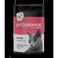 ProBalance, Adult Active, влажный корм д/кошек (курица/рыба)