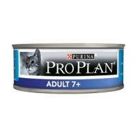 Pro Plan, Adult 7+, влажный корм д/кошек мусс (тунец)