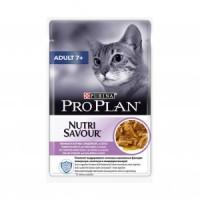 Pro Plan, Adult 7+, влажный корм д/кошек старше 7 лет (индейка)