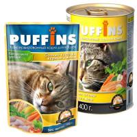 Puffins, влажный корм д/кошек (курица в желе)