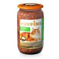 Puffins, влажный корм д/кошек (кролик/гусь в паштете)