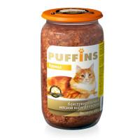 Puffins, влажный корм д/кошек (курица в паштете)
