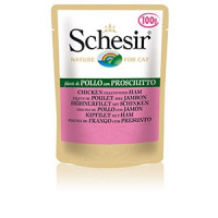 Schesir, влажный корм д/кошек (курица/ветчина)