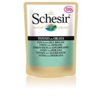 Schesir, влажный корм д/кошек (тунец/дорадо)