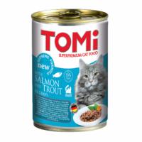TOMi, влажный корм д/кошек (лосось/форель в соусе)
