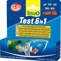 Tetra, Test, 6 in 1, GH/KH/NO2/NO3/pH/CL2 полоски д/пресной воды 25 шт.