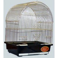 "Золотая клетка, Малая ""Арка"" для птиц, золото (30х23х39 см.)"