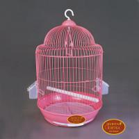 Золотая клетка, Малая круглая для птиц, эмаль (33х53 см.)