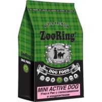 ZooRing, Mini Active Dog, корм д/собак мини пород (утка/рис)