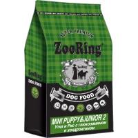 ZooRing, Mini Puppy Junior, корм д/щенков мини пород (утка/лосось)