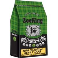 ZooRing, Mini Sensitive Adult Dog, корм д/чувств. пищ. (индейка/рис)