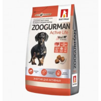 Zoogurman, Active Life, корм д/собак сред.и малых пород (телятина)