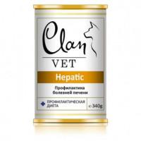 Clan,Vet Hepatic, влажный корм д/собак
