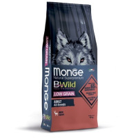 Monge, BWild Low Grain низкозерновой корм д/собак всех пород (мясо оленя)