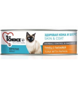 1St Choice Tuna& Papaya, влажный корм д/кошек (тунец/папайя)