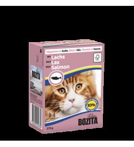 Bozita, влажный корм д/кошек (кусочки в соусе с лососем)