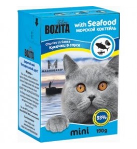 Bozita, mini влажный корм д/кошек (морскойкоктейль)