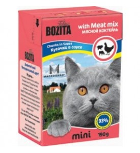 Bozita, mini влажный корм д/кошек (мясной коктейль)