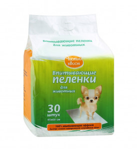 Чистый хвост, пеленка для животных впитывающая (30 шт.)