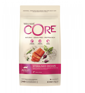Core, Sterilised, корм д/стер. кошек и кастр. котов (лосось)