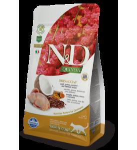 Farmina, N&D, Quinoa, Adult, корм д/кошек  (перепел/киноа)