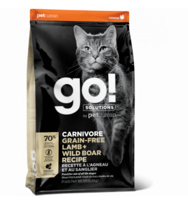 GO!, Carnivore GF, корм д/кошек и котят (ягненок/кабан)