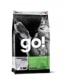 GO!, Sensitivity+Shine, корм д/кошек и котят (форель/лосось)