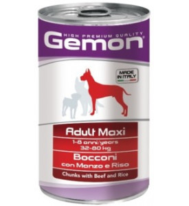 Gemon, Maxi, влажный корм д/собак кр. пород кусочки (говядина)