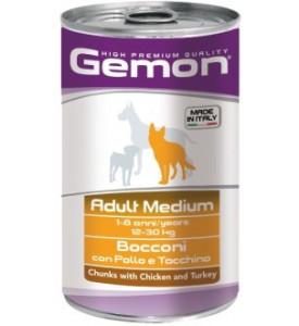 Gemon, влажный корм д/собак средних пород кусочки (курица)