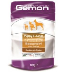 Gemon, Puppy, влажный корм д/щенков кусочки (курица)