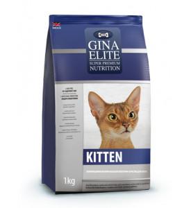 Gina, Elite Kitten, корм д/котят (птица/рыба)