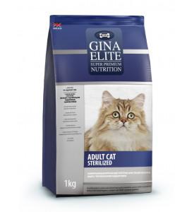 Gina, Elite, корм д/стер. кошек и кастр. котов (птица)