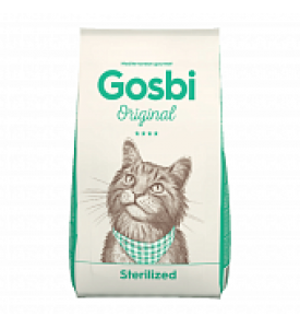 Gosbi, Original, Sterilized, корм д/стер. кошек и кастр. котов (курица/рис)
